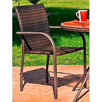 Wellindal Armchair Steel Huitex Sevilla-3 Stackable Bronze (Garden , Others)