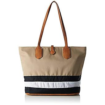 Sansibar Multicolored Women's shoulder bag (black/white/taupe 103)) 15x28x40 cm (B x H x T)