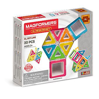 Magformers XL Neon 30PCS Set Magnetic Toy