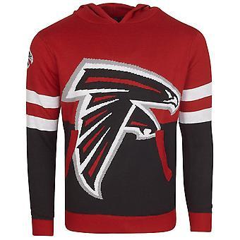 NFL Ugly Sweater Big Logo Knit Hoody - Atlanta Falcons