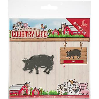 Find It Trading Yvonne Creations Die-Pig, Country Life