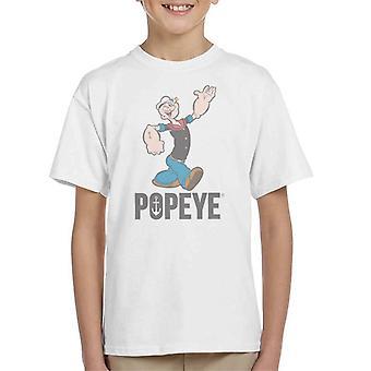 Popeye Waving Kid's T-Shirt