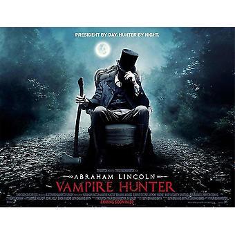 ABRAHAM LINCOLN VAMPIRE HUNTER juliste kaksipuolinen tyyli A (quad) (2012) alkuperäinen elokuva juliste