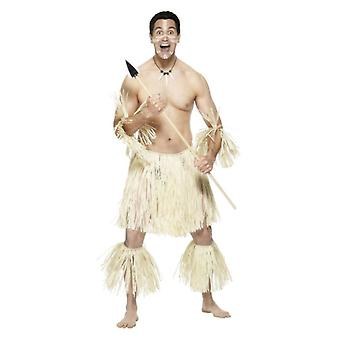 Guerriero Mens Zulu Fancy Dress Costume