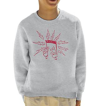 Zits Red Electric Notes Kid's Sweatshirt