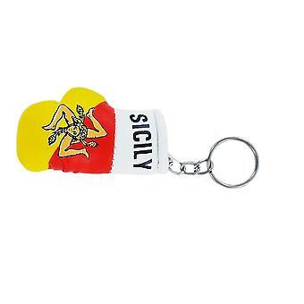 Cle Cles Schlüsselflagge sizilianische Sizilia sicilia Igant Boxen Flagge Schlüsselanhänger