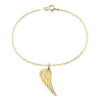 Ah! Jewellery 24K Gold Vermeil Over Sterling Silver Open Work Angel Wing Bracelet, Stamped 925