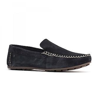 Basis London Henton Herren Leder Loafers Navy