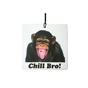 Chimp Chill Bro Car Air Freshener