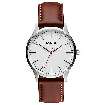 MVMT 40 SERIES Silver Natural Tan Men's Watch Wristwatch Leather MT01-SNA