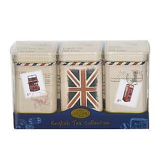 Travel memories triple english tea mini tin gift pack