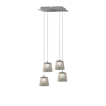 Brillcool Orion Nickel Four Pendant  Square Canopy