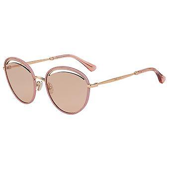 Jimmy Choo Malya/S KON/2S Nude Glitter/Pink Mirror Sunglasses