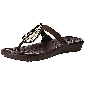 Crocs Women's Sanrah Liquid Metallic Flip Flop