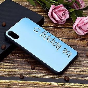 Bemalte weiche TPU Schutzhülle für iPhone XR, glücklich sein