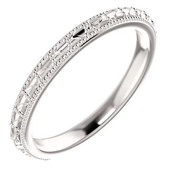 14k White Gold Vintage Universal Band Ring Size 6.5 Jewelry Gifts for Women - 3.1 Grams