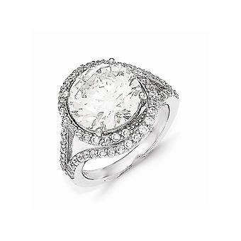 Cheryl M 925 Sterling Silver CZ Cubic Zirconia Simulated Diamond Ring Jewelry Gifts for Women - Ring Size: 6 to 8