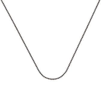 925 Sterling Argent Oxydé Plaqué 1.25mm Round Wheat Chain Necklace Lobster Claw Closure Bijoux Bijoux pour les femmes - Len
