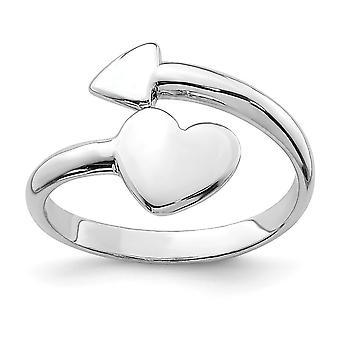 925 sterling sølv kjærlighet hjerte med pil tå ring smykker gaver til kvinner