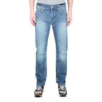 True Religion Geno Ingen Flap Afslappet Slim Fit Wave Runner Blue Denim Jeans