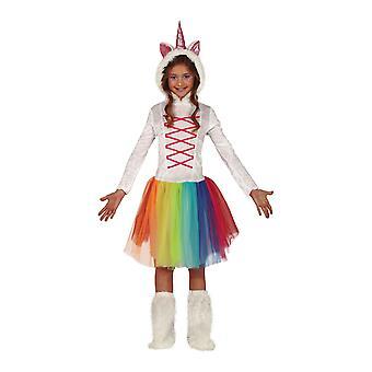 Girls Unicorn Fancy Dress Costume Mythical Animal