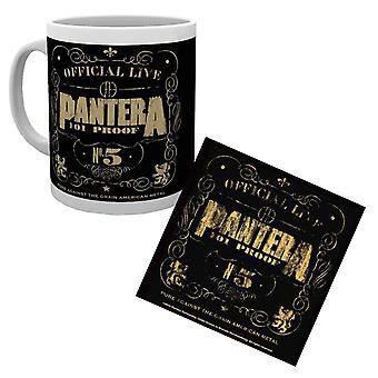 Pantera Mug and Coaster 101 Proof Band Logo Official Live new Official Gift Set