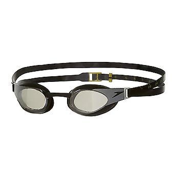 Speedo Fastskin Elite Mirror Senior Unisex Volwassenen Zwembril - Zwart