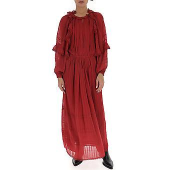 Isabel Marant ÉToile Ro157020p031e11ru Women's Burgundy Cotton Dress