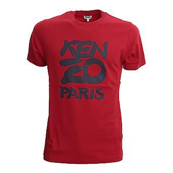 Kenzo Fa55ts0184sa21 Miehet's Punainen puuvilla t-paita
