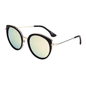 بيرثا ريس النظارات الشمسية المستقطبة - أسود / ذهبي أخضر
