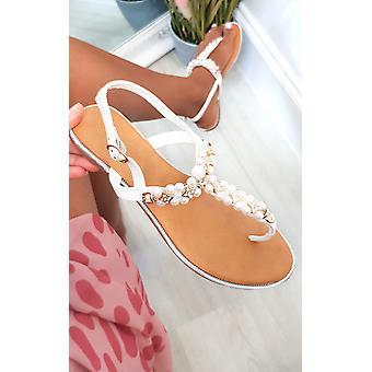 IKRUSH Kobiety Tianna T Bar Pearl zdobione sandały