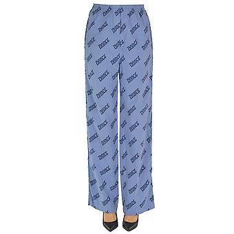 Acne Studios Ezgl151040 Women's Light Blue Cotton Pants