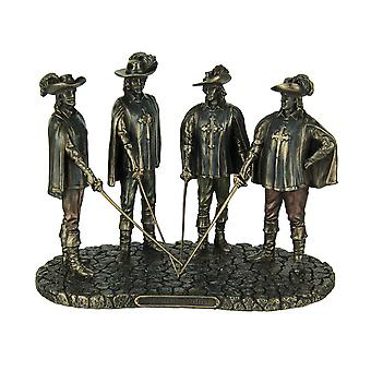 The Musketeers All For One Bronze Finished Statue