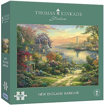 Gibsons 1000 Piece Kinkade New England Harbour  Jigsaw Puzzle