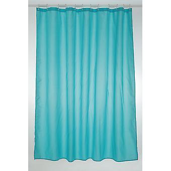 Blå turkis ren Polyester dusj gardin 180 x 200cm