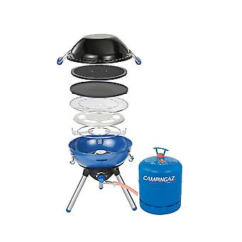 Campingaz Party Grill 400 Portable Camping Stove + Free R907 Empty Cylinder Blue