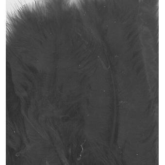 Marabou Veren, Zwart, 15pcs