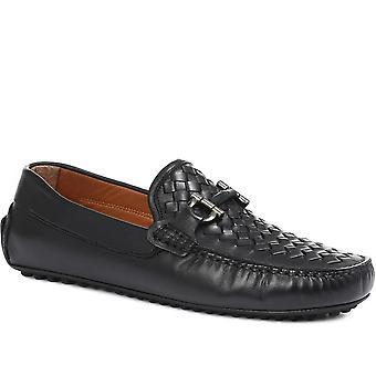 Jones Bootmaker Mens Reuben Leather Driving Moccasin