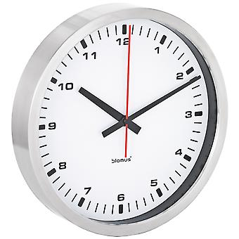 Blomus wall clock ERA stainless steel matt quietly without ticking