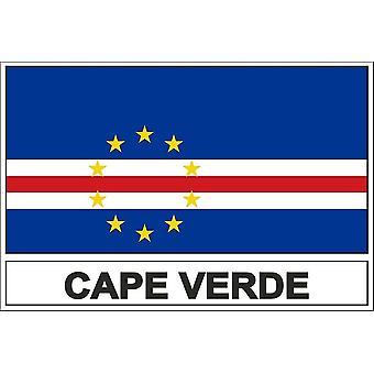 Bandeira adesivo CV Cabo verde