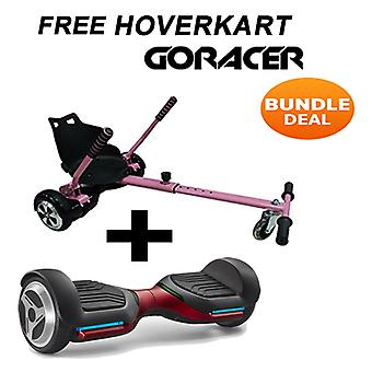 G PRO Red Segway with a Racer Hoverkart in Pink