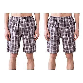 Allthemen Men's Cotton Sleep Shorts 2-Piece Home Bathing Shorts