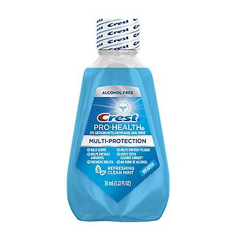 Crest pro-health multi-protection oral rinse, clean mint, 1.22 oz x 12 ea