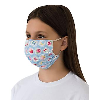 Mio ST2 Afternoon Tea Blue Cotton Face Mask with Removable Nose Wire