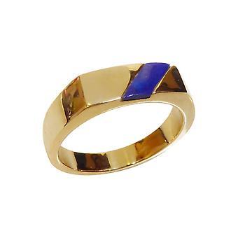 Kultarengas lapis lazuli