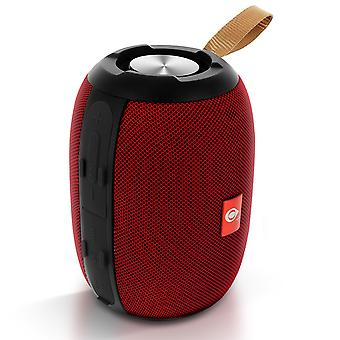 Bluetooth Audio Speaker Micro-SD / USB Jack 3.5mm Microphone FM Radio Red