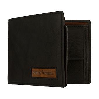 bruno banani men's purse wallet purse sham bag black/cognac 8166