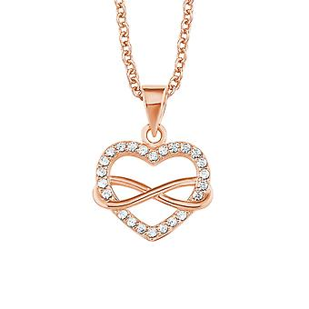 s.Oliver Jewel Damen Kette Collier Silber Rosé Herz/Infinity 2020988