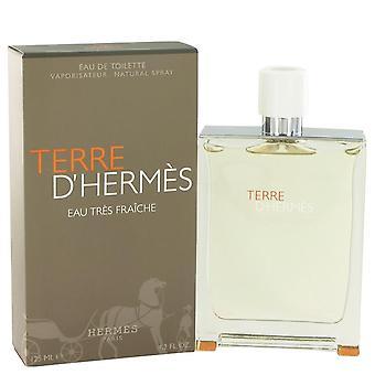 Terre D'hermes Eau Tres Fraiche Eau De Toilette Spray von Hermes 4,2 oz Eau Tres Fraiche Eau De Toilette Spray
