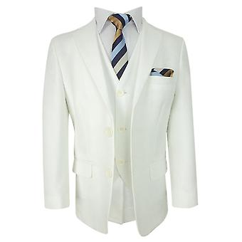 Boys Communion Ivory 3pc Suit Set